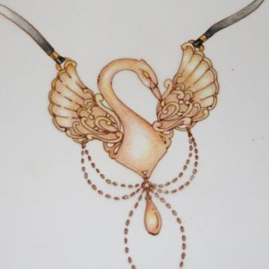 croquis jewel cygne
