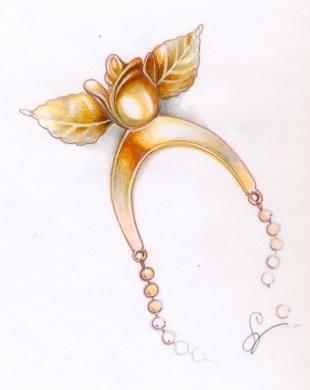 croquis string rose intime